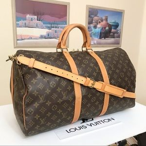 Louis Vuitton Monogram Keepall Bandouliere 50 Duffel Bag 💼